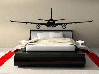 WANDTATTOO WANDSTICKER Flugzeug NEU Deko Boeing Flug