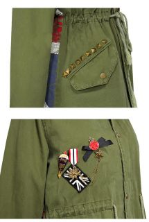 Blogger Army Toggle Parka Mantel d G S   M   L Jacke Pelz Kragen