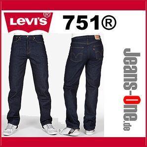 Levis® Jeans 751 Regular Fit Onewash Weite 38 Länge 30 32 34