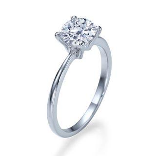 80 Carat G/VS2 Brillantring Diamant Solitar Ring 14kt 585 Weißgold