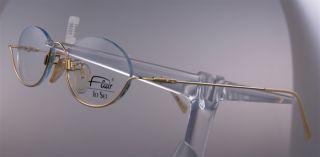 FLAIR JetSet 762 Brille Brillengestell Gold, NEU