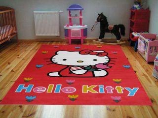 Disney Kinderteppich Hello Kitty 756   140x200 cm   Roter Teppich