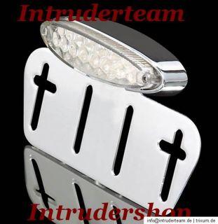 Rücklicht LED chrom für Intruder Harley Yamaha Honda etc