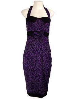 Purple Vtg Rockabilly 50s Pin Up Punk Emo Kleid Dress S