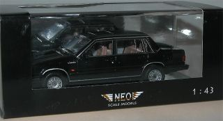 Neo Scale Models 43163, Volvo 760 GLE Limousine, 1982, schwarz 1/43