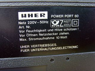 Uher Power Port 60 Radiorecorder Ghettoblaster Boombox