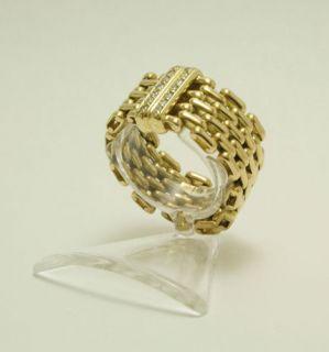 Ring 750 18 kt Gold Gelbgold Kettenring Brillanten