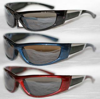 Motorrad Biker Brille Radbrille schwarz blau 769