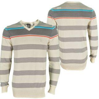 Oxbow Tadey V neck Knit Sweater Herren Langarm Shirt Kapatcha Pullover