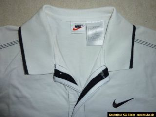 NIKE Tennis Polo Shirt US Size M Full Buttom Andre Agassi 1996 Miami