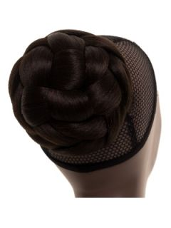 HAIRPIECE CLIP ON DOME BUN MIDNIGHT BROWN UPDO #4