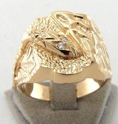 WERT 2790,  EURO SCHLANGEN RING 585er / 14 KARAT ROSÉ GOLD HERRENRING