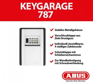 ABUS 787 KeyGarage Schlüsseltresor Übergabe Safe Schlüsselbox KEY