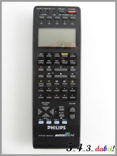 Philips RC 790 Universal Remote Control unit Fernbedienung Match Line