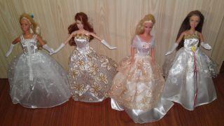 Kleid Kleidung Hochzeitskleid Wedding für Barbie Steffi Puppe Dolls