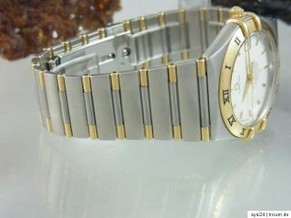 OMEGA CONSTELLATION CHRONOMETER AUTOMATIK STAHL/ GOLD BOX + PAPIERE