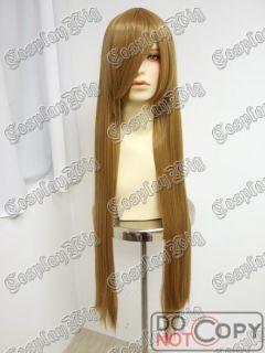 40 100cm long TOFFEE CARAMEL LIGHT BROWN BLONDE cosplay WIG
