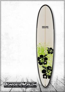 Water Colors SURFBOARD WELLENREITER MINI MALIBU 8.3 white green