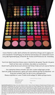 120 88 78 15 Lidschatten Palette GRATIS 7 Pinsel Set Kosmetik Rouge