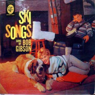 BOB GIBSON ski songs LP vinyl EKL 177 VG 1959