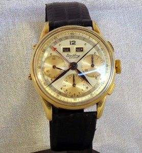 Datora Triple Date Chronograph from 1950s Gold filled Ref 785