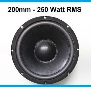 200mm Bass   Subwoofer   KHW 806   250 Watt RMS
