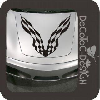 A807 Racing Flagg Motorhauben Auto Aufkleber Sticker