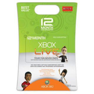 XBOX 360 LIVE GOLD CARD Karte Code 12 MONATE NEU