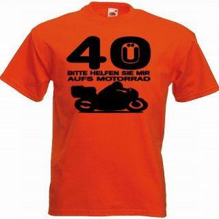FUN SHIRT Ü 30,40,50 Motorrad Gr. S XXXL Geburtstag
