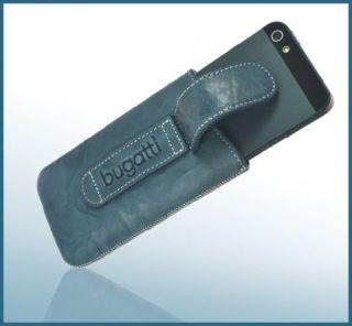 Bugatti Handytasche Für Apple iPhone 5 Leder Unique Jeans Etui Hülle