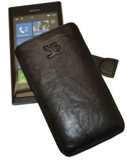 Nokia Lumia 800   Etui Tasche Ledertasche Hülle Case * in WASH