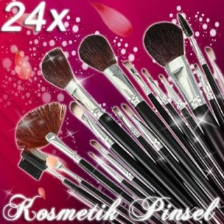 24 tlg Make up Pinsel Set Brush Makeup Bürste Kosmetik Beauty