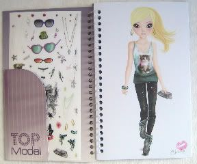TOP Model Pocket Malbuch (Candy)
