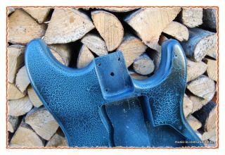 Gitarren Korpus / Body stratocaster pastell blau schwarz krakeliert