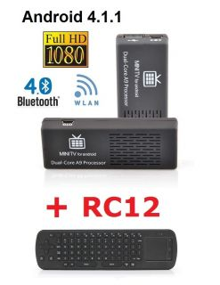 MK808 B Android 4.1.1 + RC12 Kombi MINI PC SMART TV BOX DUAL CORE 1.6