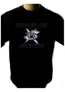 HEROES DEL SILENCIO LOGO BLACK NEW T SHIRT FRUIT OF THE LOOM DTG