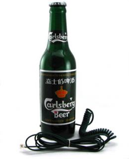 LUSTIGE Carlsberg Flasche ECHTES ANALOGES TELEFON NEU