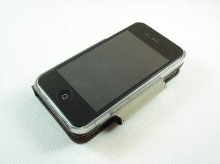 Apple iPhone 4 Leder Tasche Cover Case LV Design Braun