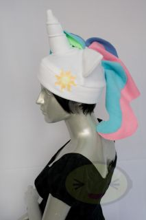 Princess Celestia Pony Hat, MLP, FiM, Fleece, New, Soft, Warm