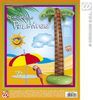 AUFBLASBARE DEKO PALME 180cm Sommer Strand Party Hawaii