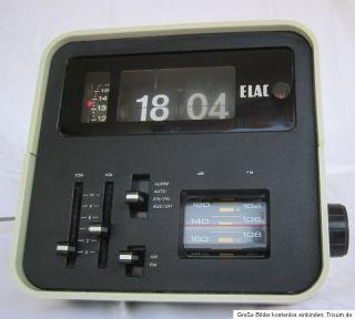 ELAC RD 100 Radio Klappzahlen Uhr Flip Clock Radio Space Age Panton