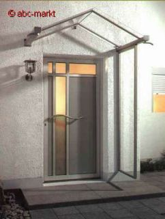Haustür Vordach Dusar GV/T 160 Edelstahl mit 160x90 cm