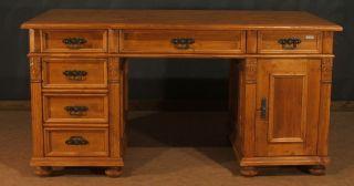 ... Schreibtisch Arbeitstisch Büro Tisch Holz Massiv Landhaus Möbel ...