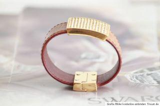 Original SWAROVSKI crystals Leder leather gold Armband bracelet bling