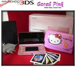 Nintendo 3DS Pink Hello Kitty Tasche inkl. Handheld Neuwertig & OVP