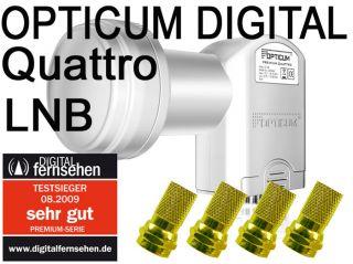Sat Anlage Astra Hotbird (EUTELSAT) Multischalter 9/8 2 LNB Opticum 8