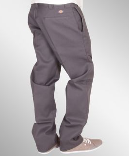 Dickies 873 Slim Straight Work Pant Hose charcoal grey NEU
