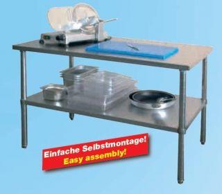 AG Gastro Arbeitstisch Edelstahl mit Grundboden 1200x700x860mm
