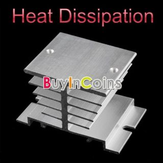 New Aluminum Heat Sink For Solid State Relay SSR Small Type Heat