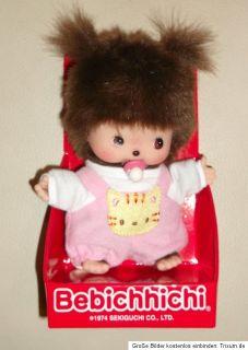 Monchhichi Monchichi Baby Mädchen NEU rosa Latzhose Bebichhichi